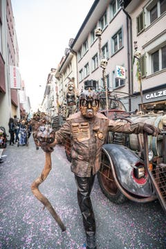 Impressionen von der Strassenfasnacht in der Stadt Luzern. (Bild: Roger Grütter, 2. März 2019)
