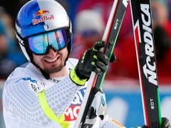 Dominik Paris mit dem schelmischen Lächeln des Siegers (Bild: KEYSTONE/AP NTB Scanpix/TERJE BENDIKSBY)