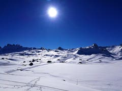 Traumhaftes Panoramawetter am Skitag auf der Melchsee-Frutt/OW. (Bild: Urs Gutfleisch, Melchsee-Frutt, 20. März 2019)