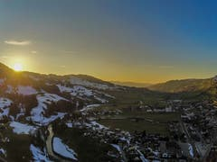 Sonnenuntergang bei Nesslau. (Bild: Renato Maciariello)