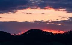 Abendrot über Herisau. (Bild: Luciano Pau)