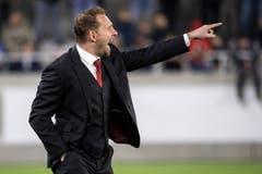 U21-Trainer Mauro Lustrinelli. (Bild: Alexandra Wey / Keystone, Kriens, 22. März 2019)