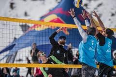 Snow-Volleyball-Schweizer-Meisterschaften in Andermatt. (Bild: Stephan Schori/Sportmoments)