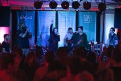 Eindrücke vom 14. Tonart Festival 2019: Take This mit Roger Rekless, Caroline Chevin und Knackeboul. (Bild: Valentin Luthiger, 23. März 2019)