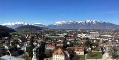 Blick von Rankweil in die Appenzeller Alpen. (Bild: Toni Sieber)