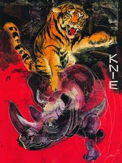 Knie-Plakat des Luzerner Künstlers Hans Erni. (Bild: Hans Erni Museum)