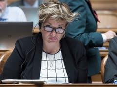 Unter den Zurücktretenden aus dem Nationalrat ist die Walliserin Géraldine Marchand-Balet (CVP). Sie will keine zweite Amtsperiode anhängen. (Bild: KEYSTONE/LUKAS LEHMANN)