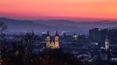 Abendrot über St. Gallen. (Bild: Luciano Pau)