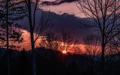 Sonnenuntergang bei Steckborn. (Bild: Christian Müller)