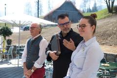 Das eingespielte Gastgeber-Trio: Erich Peterer, Thomas Häfliger und Nadja Schauber (von links ).