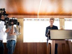 «Eine Annahme der Begrenzungsinitiative der SVP wäre der Schweizer Brexit», sagte die neue Justizministerin Karin Keller-Sutter am Freitag vor den Medien. (Bild: Keystone/Gian Ehrenzeller)