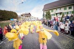Zu einer tollen Party gehören natürlich Cheerleader, auch bei der Mööslimatten Ettiswil. (Bild: Roger Grütter, Ettiswil, 3. März 2019)