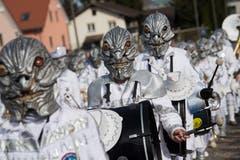 Die Löchlitramper ziehen mit dem Motto «Spacecowboys Irgendwo im Nirgendwo» durch Littau. (Bild: Boris Bürgisser, Littau, 3. März 2019)