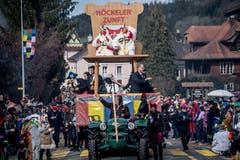 Der Wagen der Höckelerzunft Neuenkirch. (Bild: Nadia Schärli, Neudorf, 3. März 2019)
