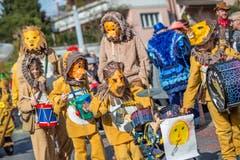Die «Löwenkinder» der Kindergruppe Boog ist in Horw ebenfalls mit dabei. (Bild: Pius Amrein, Horw, 3. März 2019)