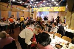 Tanzstimmung im Pfarreihaus Goldach (Bild: Martin Rechsteiner)