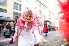 Die Original Krienser Maske zu Gast in Emmen. (Bild: Manuela Jans-Koch, Emmen, 3. März 2019)