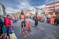 Der Skiclub Horw zelebriert das 110-jährige Jubiläum am Umzug der Egli-Zunft. (Bild: Pius Amrein, Horw, 3. März 2019)