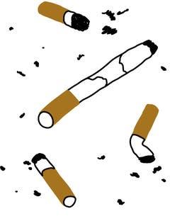 Segatura (Italienisch): Für bettelarme Suchthaufen: Funktionsfähige Zigarette, die aus Zigarettenstummeln zusammengekleistert wird.