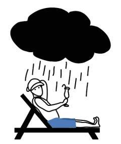 Gluggavedur (Isländisch): Wetterkapriolen: Von drinnen hat es doch so schön ausgesehen, im Freien aber ist es eine garstige Zumutung.
