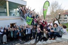 Die Grünen und Jungen Grünen feiern ihren Wahlerfolg am Sonntag, 31. März 2019 bei den Studentenwohnungen der Music-Box an der St. Karlistrasse Luzern.