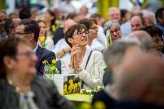 Im Publikum: Regierungsrätin Monika Knill. (Bild: Andrea Stalder)