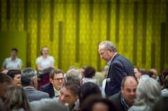 Der ehemalige Stadtpräsident Martin Salvisberg ist ebenfalls vor Ort. (Bild: Andrea Stalder)