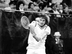 Nur er steht mit 109 Profititeln noch vor Federer: Jimmy Connors (Bild: KEYSTONE/AP/Richard Drew)