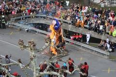 Die Ämmeli-Verbrennung aus anderem Blickwinkel. (Bild: Andréas Härry, Emmen, 3. März 2019)