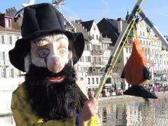 Fein! Ich habe was gefangen! (Bild: Rose-Marie Füglistaller, Luzern, 28. Februar 2019)