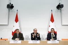 Von 2011 bis 2013: Urs Wiedmer (rechts) leitet im Wechsel mit Sonja Hasler die Diskussionsrunden der Arena. Seit Januar 2016 ist er Kommunikationschef im Departement für Verteidigung, Bevölkerungsschutz und Sport (VBS).