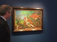 Das Museum im Lagerhaus in St. Gallen widmet dem «Aussenseiter» Antonio Ligabue eine Ausstellung. Der «Schweiz Van Gogh» liebte die Natur und Tiere. (Bild: Keystone-SDA/Nathalie Grand)