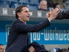 Gerardo Seoane feiert einen wichtigen Erfolg mit YB gegen seinen früheren Verein Luzern (Bild: KEYSTONE/URS FLUEELER)