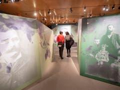 Einen interessanten Gang durch die Schweizer Auswanderungsgeschichte bietet die neuste Ausstellung «Auf in eine neue Welt - Die Schweiz anderswo» im Forum Schweizer Geschichte in Schwyz. (Bild: KEYSTONE/URS FLUEELER)