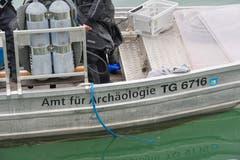 Das Boot des Thurgauer Amts für Archäologie. (Bild: Donato Caspari)