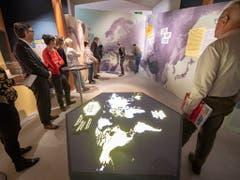 Rund um den Globus sind 750'000 Schweizer zu Hause. Die Ausstellung «Auf in eine neue Welt - Die Schweiz anderswo» im Forum Schweizer Geschichte in Schwyz widmet sich Geschichten und Schicksalen von Schweizer Auswanderern. (Bild: KEYSTONE/URS FLUEELER)