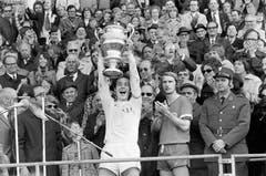 Köbi Kuhn nach dem Cupsieg mit dem FC Zürich am 23. April 1973. (Bild: Keystone)