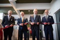 ...eröffnet der Kulturminister die Ausstellung. Der Klosterplan... (Bild: Benjamin Manser)