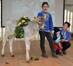 Präsentation der Tiere für den Kälberwettbewerb. (Bild: Peter Jenni)