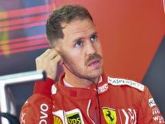 Sebastian Vettel verdankt seinen dritten Platz auch der teaminternen Weisung, die es ihm erlaubte, Teamkollege Charles Leclerc zu überholen (Bild: KEYSTONE/EPA/DIEGO AZUBEL)