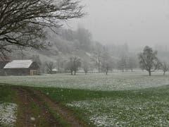 Schnee bis in die Niederungen. (Bild: Irene Wanner (Schötz, 14. April 2019))