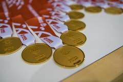 Die Medaille für die Sieger. (Bild: Roger Grütter, Nottwil, 13. April 2019)