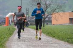 Aminullah Habibi aus Stans und Peter Barmettler aus Buochs (rechts). (Bild: Boris Bürgisser, Stans, 14. April 2019)