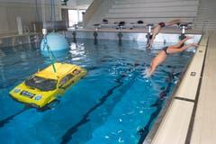 Auch Rettungsübungen und Rettungsausbildungen finden im Campus statt. (Bild: Boris Bürgisser, Sursee, 19. März 2019)