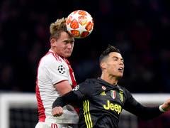 Mathijs de Ligt und Ajax wollen gegen Cristiano Ronaldo und Juventus hoch hinaus (Bild: KEYSTONE/AP/MARTIN MEISSNER)