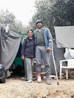 Zwei Flüchtlinge, die Gretler verarztet hat. (Bild: Cécile Gretler)