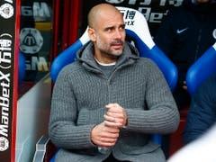Manchester City mit Trainer Pep Guardiola steht gegen Tottenham unter Druck (Bild: KEYSTONE/EPA/KIERAN GALVIN)