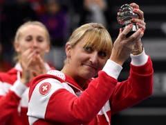 Bei der Anzahl Fed-Cup-Einsätzen bereits die Schweizer Nummer 2: Timea Bacsinszky (Bild: KEYSTONE/ANTHONY ANEX)