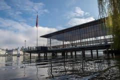 So sieht die Landungsbrücke nach dem Umbau aus. (Bild: Dominik Wunderli, 17. April 2019, Luzern)