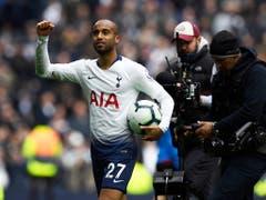 Tottenham's Lucas Moura glänzte zuletzt in der Premier League mit einem Hattrick gegen Huddersfield (Bild: KEYSTONE/EPA/WILL OLIVER)